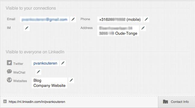 LinkedIn extra gegevens