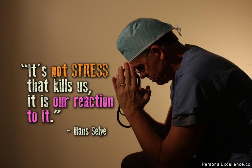 Reageer niet op stress