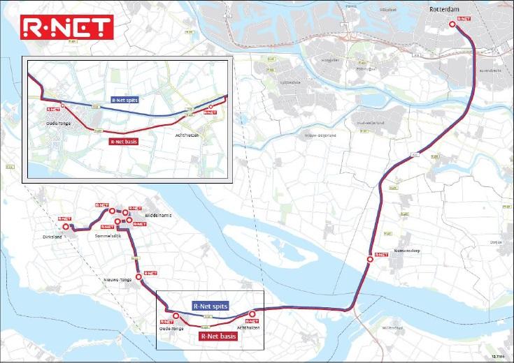 R-Net busroute voor gunstige vacatures Hoeksche Waard